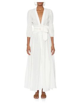 Women's White Willow Eyelet Dress by Cult Gaia