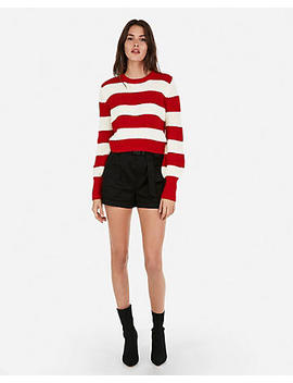 Olivia Culpo Abbreviated Striped Sweater by Express