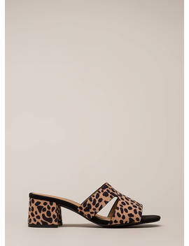 Block Party Chunky Spotted Mule Heels by Go Jane