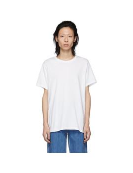 Three Pack White Classic Fit T Shirt by Calvin Klein Underwear