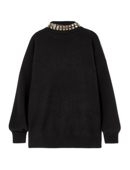 Studded Wool Blend Turtleneck Sweater by Alexander Wang