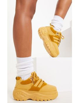Camel Chunky Flatform Sneakers by Prettylittlething