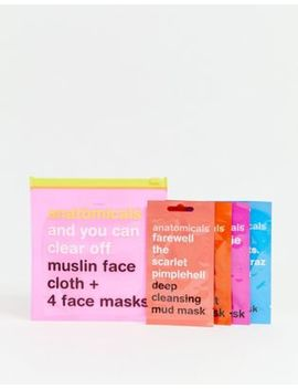 Anatomicals Asos Exclusive And You Can Clear Off. Muslin Face Cloth And 4 Face Masks by Anatomicals