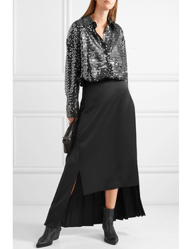Sequined Chiffon Shirt by Msgm