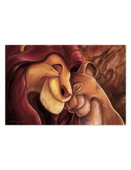 The Lion King ''pride Love Everlasting'' Giclée By Darren Wilson by Disney