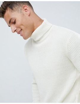 French Connection Chunky Roll Neck Sweater Plain by French Connection