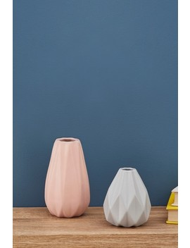 Set Of 2 Pleated Vases by Next