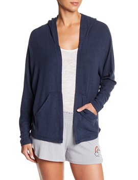 Hooded Brushed Knit Cardigan by Free Press