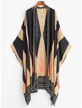 Geo Print Kimono by Shein
