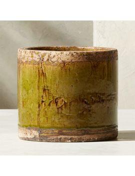 Bora Green Planter by Crate&Barrel