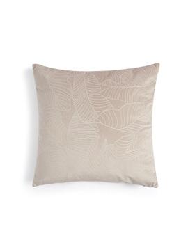 Pink Velvet Leaf Cushion by Primark