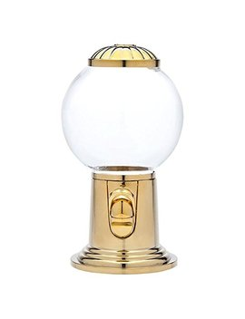 Godinger 9  Inch Refillable Glass Globe Gumball Machine And Candy Dispenser Antique Style   Gold Color by Godinger