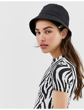 Monki Bucket Hat In Black by Monki