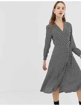 Mango Wrap Dress In Geo Print by Mango