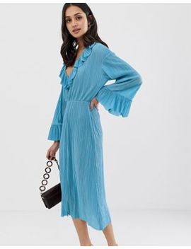 Asos Design Midi Plisse Tea Dress by Asos Design