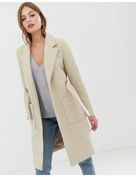 Vila Belted Tailored Coat by Vila