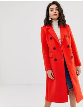 River Island Tailored Coat In Red by River Island