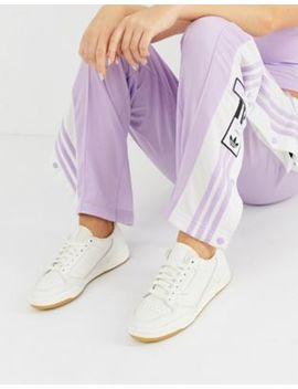 Adidas Originals White And Lilac Continental 80 Trainers by Adidas