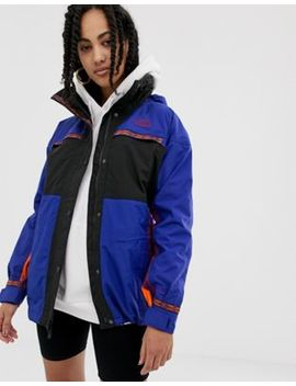 The North Face 92 Retro Rage Rain Jacket In Aztec Combo by The North Face