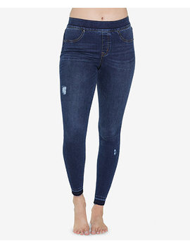 Ripped Denim Leggings by Spanx