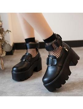 Punk Platform Shoes And Socks Yv2061 by Youvimi