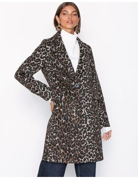 Leopard Print Longline Coat by New Look
