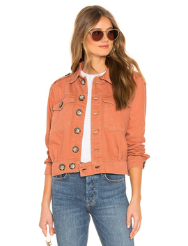 Denim Slouchy Eisenhower Jacket by Free People