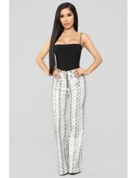 No Snakes Allowed Print Pants   Grey by Fashion Nova
