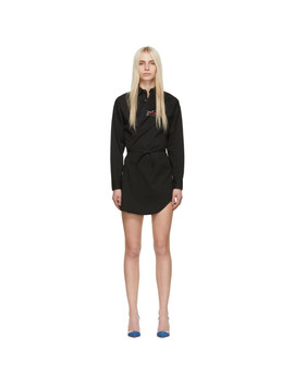Black Twill Wrap Dress by Dsquared2