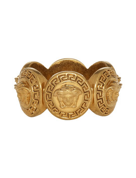 Gold Tribute Medusa Ring by Versace