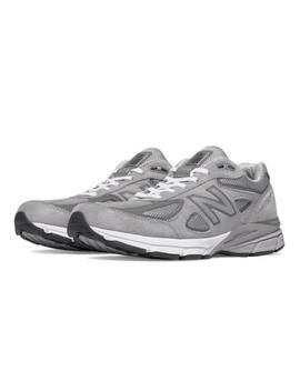 New Balance M990 Gl4 Grey Suede Mens Running 990v4 Made In Usa (Widths D 2 E 4 E) by New Balance