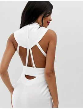 Asos Design Minimal Belted Midi Dress With Ring Detail by Asos Design