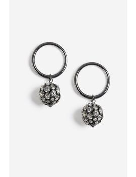 Crystal Ball Doorknocker Earrings by Topshop