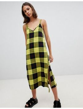 Cheap Monday Keep Plaid Wrap Slip Dress by  Cheap Monday