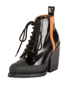 Rylee Block Heel Lace Up Combat Boots by Chloe