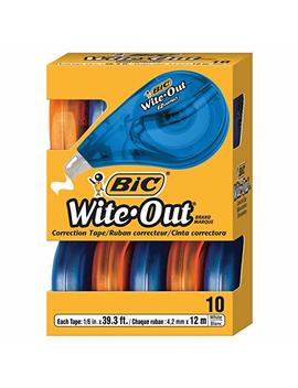 Bic Wite Out Brand Ez Correct Correction Tape, White, 10 Count by Bic