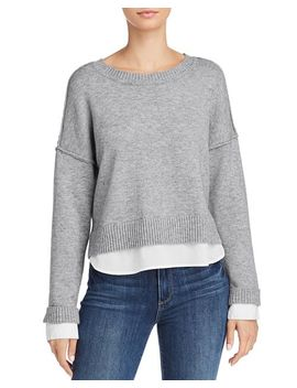 Layered Look Crewneck Sweater   100 Percents Exclusive by Aqua