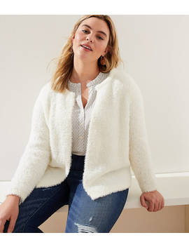 Loft Plus Fuzzy Open Sweater Jacket by Loft