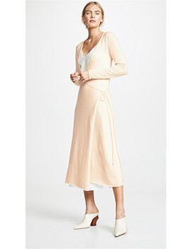 Front Tie Cashmere Dress by Ryan Roche