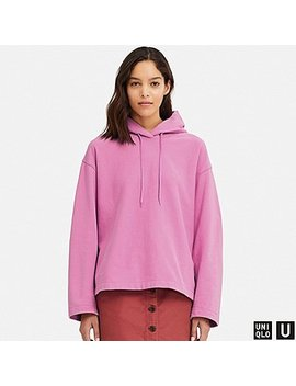 Women U Long Sleeve Hooded Sweatshirt by Uniqlo