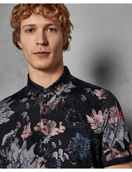 Short Sleeved Floral Cotton Shirt by Ted Baker