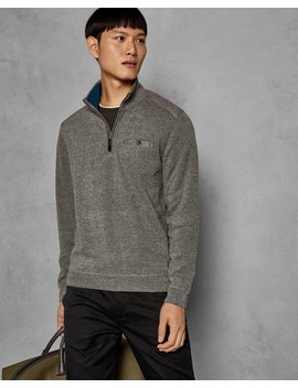 Funnel Neck Zipped Jumper by Ted Baker