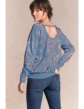 Embellished Print Sweat by Next