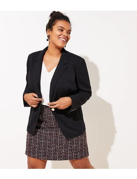 Loft Plus Knit Pocket Blazer by Loft
