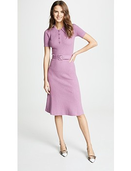 Rib Midi Collared Dress by Joos Tricot