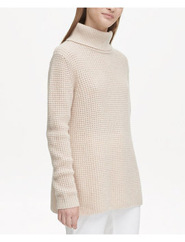 Cashmere Textured Turtleneck Sweater by Calvin Klein