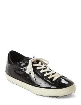Black Superstar Coated Low Top Sneakers by Golden Goose