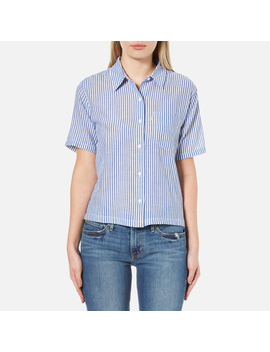 Levi's Women's Short Sleeve Sidney Shirt   Contrabassoon White by Levi'S