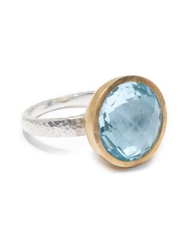 Two Tone Blue Topaz Galapagos Ring   Size 7 by Gurhan