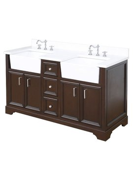 "Kbc Zelda 60"" Double Bathroom Vanity Set & Reviews by Kitchen Bath Collection"